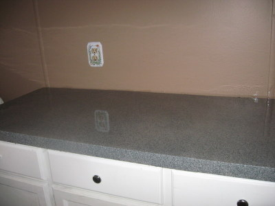 Faux Granite Countertops Cost : just finished creating faux granite countertops and Im so thrilled ...