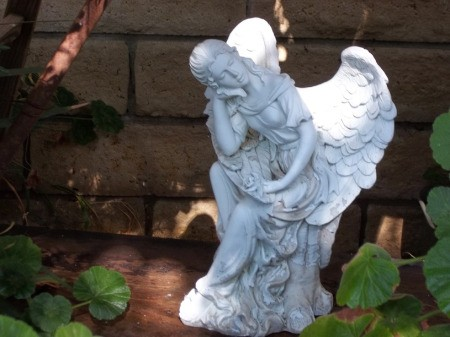 White Garden Angel Statue