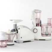 Small kitchen appliances such as a juicer, food processor, blender, etc.