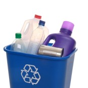 Items for Recycling in Blue Bin