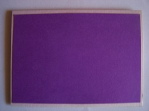 Purple Outer Card