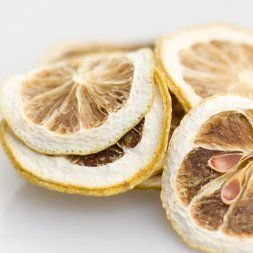 Slices of dried lemon.