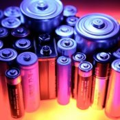 Several different sized batteries.
