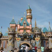Photo of the castle at Disney Land.