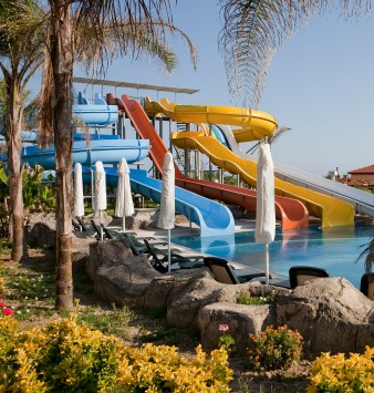 Water Slides at Water Park