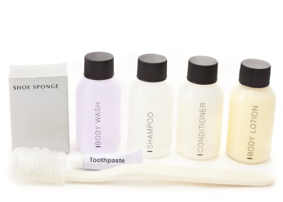 Sample size toiletry containers