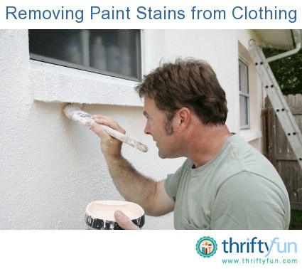 Removing paint stains from clothing thriftyfun for How to remove sweat stains from black shirts