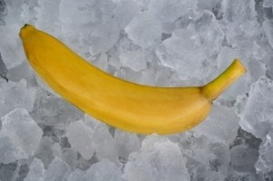 A banana on ice.