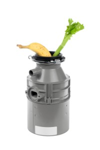 Celery and Banana Going into Garbage Disposal