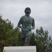 Terry Fox Statue from Front