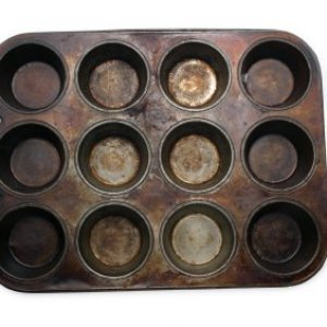 Rusty muffin pan.