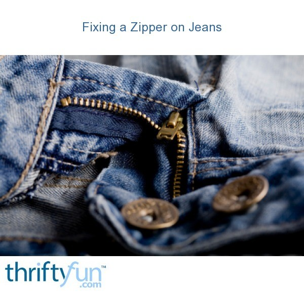 fixing a zipper on jeans thriftyfun. Black Bedroom Furniture Sets. Home Design Ideas