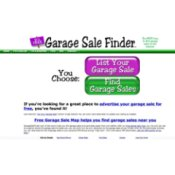 The home page of GarageSaleFinder.com