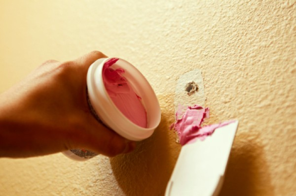 filling nail holes in a wall thriftyfun. Black Bedroom Furniture Sets. Home Design Ideas