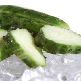 Cucumbers on ice.
