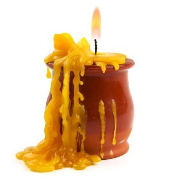 Melted Candle Wax