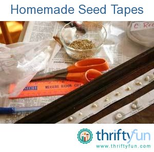 Homemade Seed Tapes | ThriftyFun