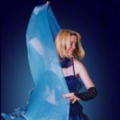 Shira Belly Dancer in Blue Costume