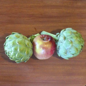 Artichokes and an Apple