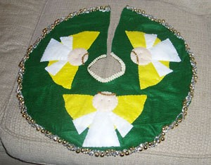 Photo of a homemade tree skirt.