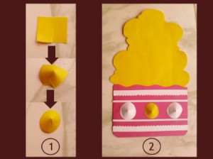 Cupcake Birthday Cake Card Step 4