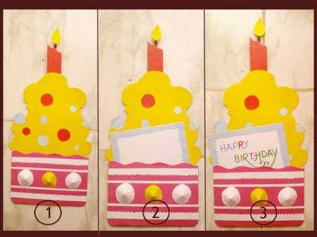 Cupcake Birthday Cake Card Step 5