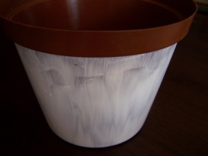 Recycled Plastic Flower Pot Step 1