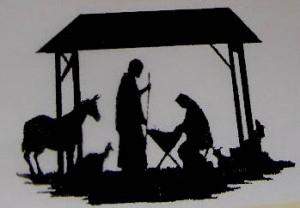 300 x 208 · 15 kB · jpeg, Christmas Nativity Scene Black and White