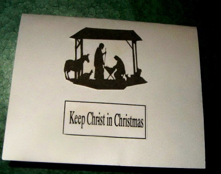 Nativity Christmas card 3