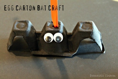 Halloween Egg Carton Bat