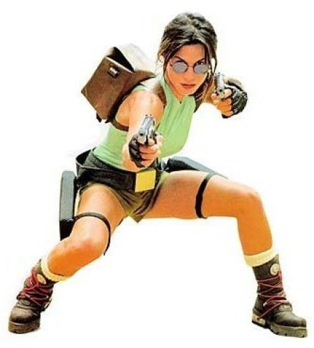 Woman in Classic Lara Croft Costume