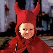 Child in Devil Costume