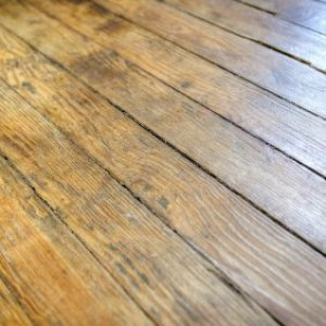 Fixing Squeaky Hardwood Floors, Section of old hardwood flooring.