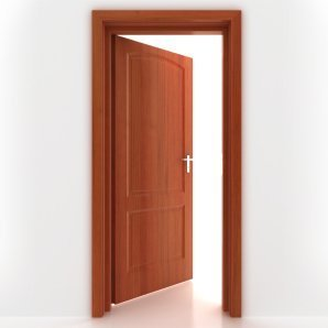 Opened Wood Door