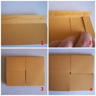 Fragile Package Card Steps 1-4