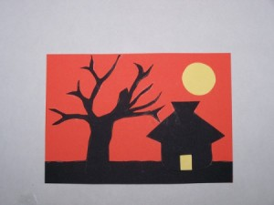 Sunset Silhouette Card - Assembling the card.