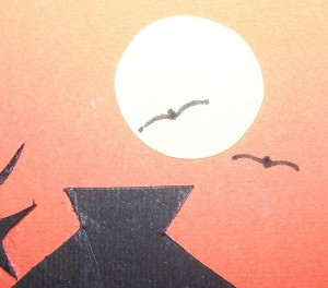 Sunset Silhouette Card - Adding birds to the card.