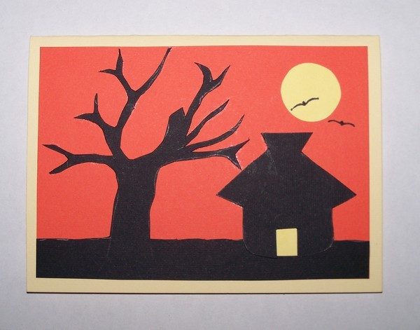 Sunset Silhouette Card