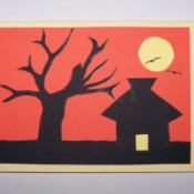Sunset Silhouette Card - Finished Card
