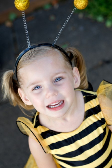 Little Girl in Bumblebee Costume