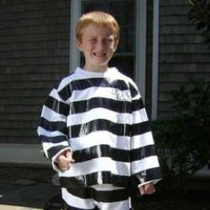 Boy in Convict Costume