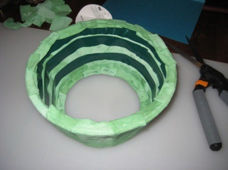 Inside of Cone with Green Tape
