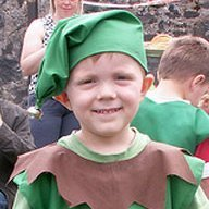 Boy in Elf Costume