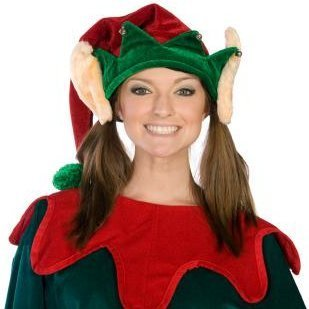 Woman in Elf Pattern Costume