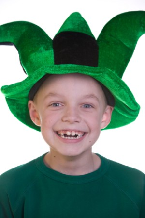 Boy in Green Jester Hat