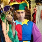 Man in Jester Costume