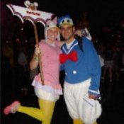 Couple in Donald and Daisy Duck Costume