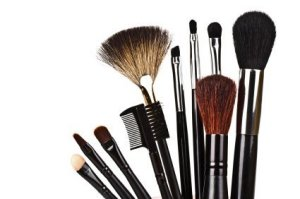 a selection of brushes used to apply makeup