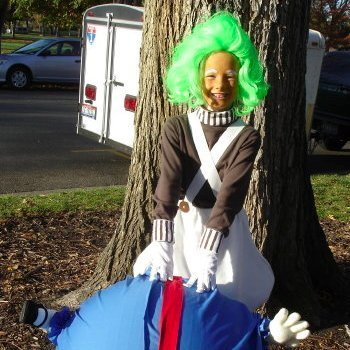 Child Dressed as an Oompa Loompa