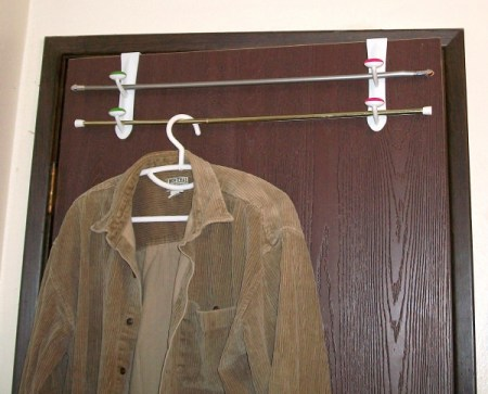 Cordury shirt hangind from unit.